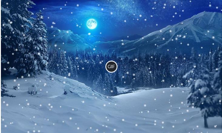 Гифка красиво падающий снег
