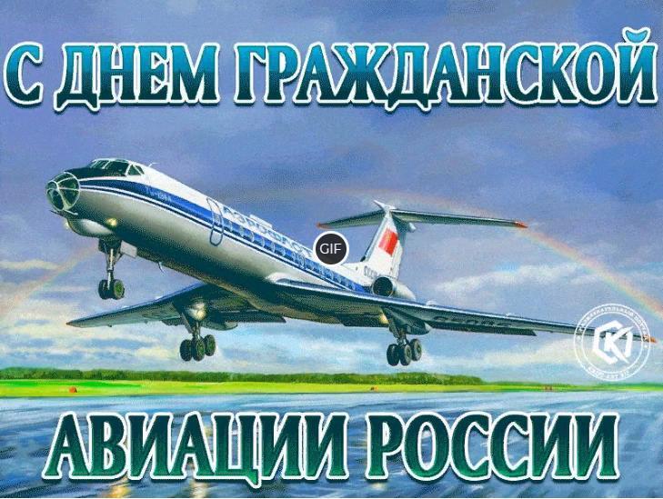 C Днём гражданской авиации (гифка)