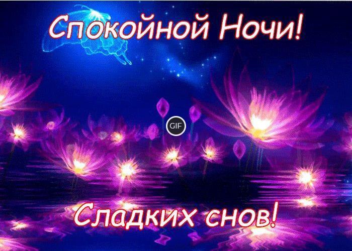 Гифки спокойной ночи сладких снов от души тебе желаю