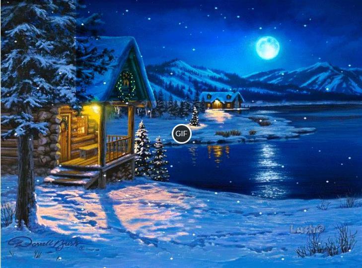 Гифки зима красивые скачать бесплатно