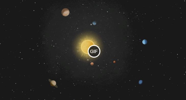 Солнечная система gif