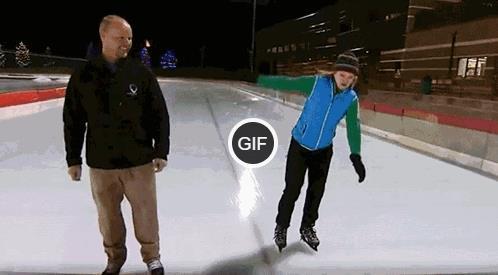 Гифки катание на коньках смешные