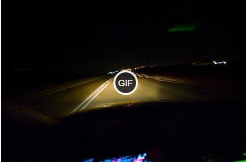 Гифки ночью на машине