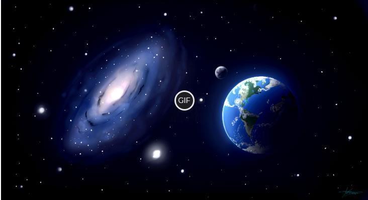Гифки с космосом высокого качества