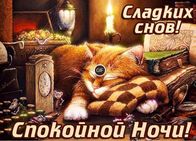 Гифки спокойной ночи сладких снов