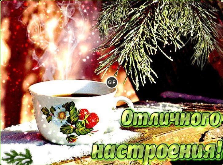 Доброго зимнего дня и хорошего настроения гифки