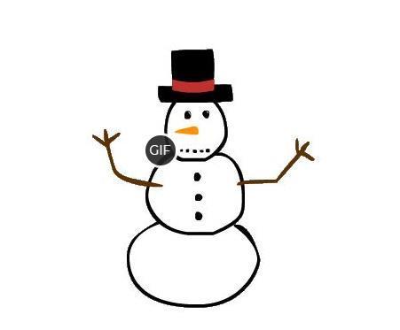 Гифки снеговики