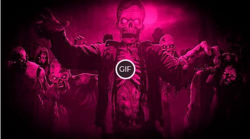 Гифки с зомби