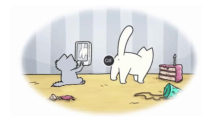 Гифки кот саймон
