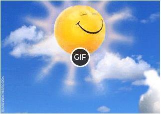 Гифка солнышко скачет по облакам, доброго утра