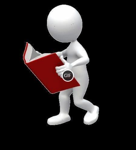 Гифка человечек с книгой на прозрачном фоне для презентации