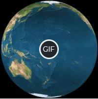 Гифка Земля крутится на прозрачном фоне