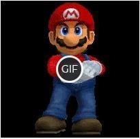 Гифка Марио аплодирует