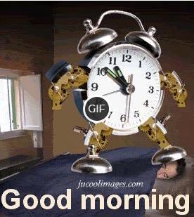 Гифка будильник звенит утро