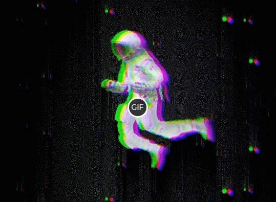 Гифка космонавт в космосе