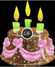 Гифка торт с днем рождения