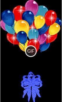 Гифка воздушные шары на прозрачном фоне
