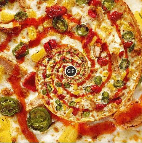 Гифка бесконечная пицца