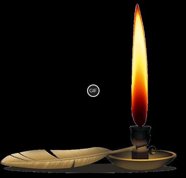 Гифка горящая свеча на прозрачном фоне