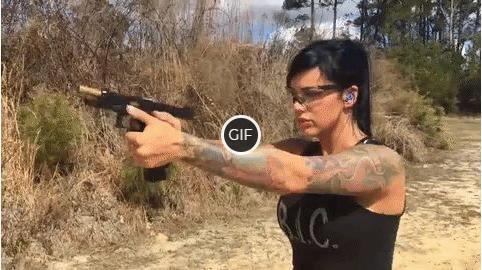 Гифка девушка с пистолетом