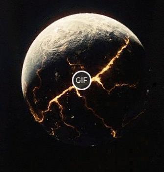 Гифка планета взрывается