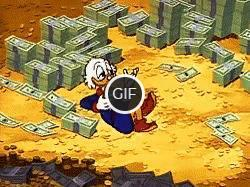 Гифка дональд дак в деньгах
