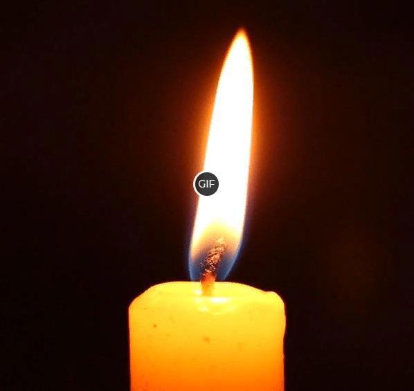 Гифка горящая свеча