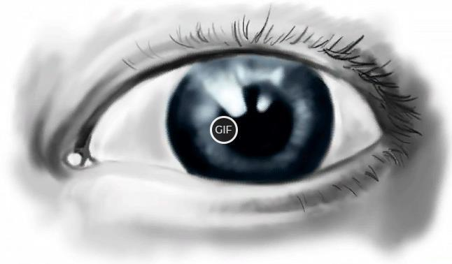 Гифка моргающий глаз