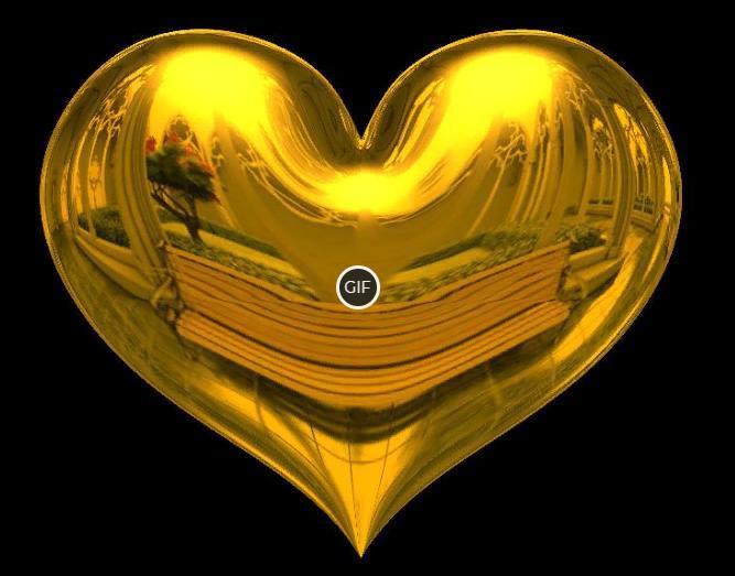 Гифка золотое сердце на прозрачном фоне