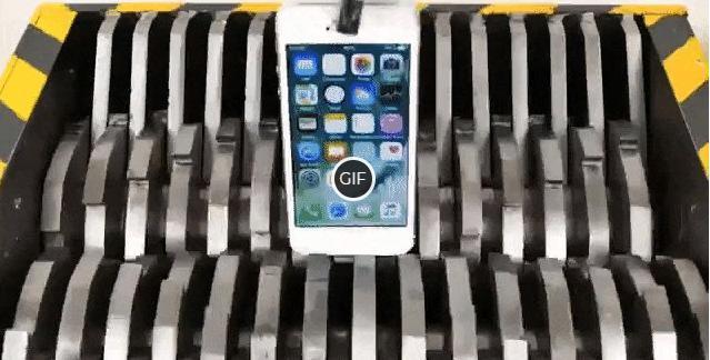 Мобильный Телефон в дробильной машине