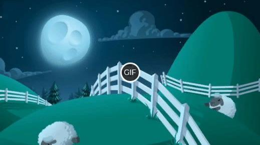 Гифки посчитайте овец перед сном, чтобы быстрее уснуть