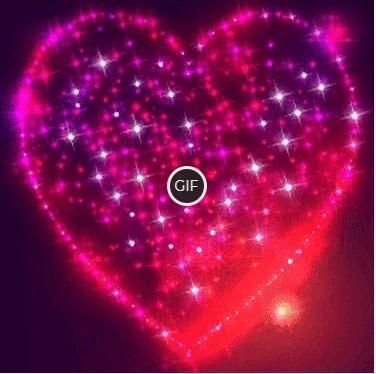 Открытки мерцающие сердца
