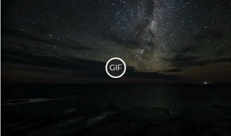 Гифка красивый рассвет над морем