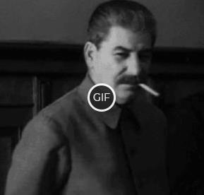 Гифка Сталин посылает всех на хре