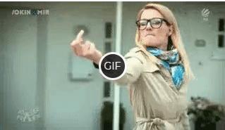 Гифка девушка показывает fuck you