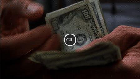 Гифка бесконечно отсчитывает деньги