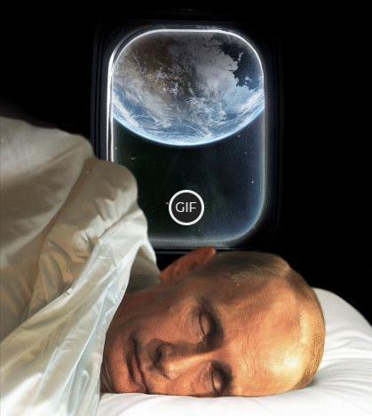 Гифка Путин спит