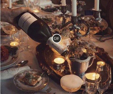 Гифка шампанское в бокал