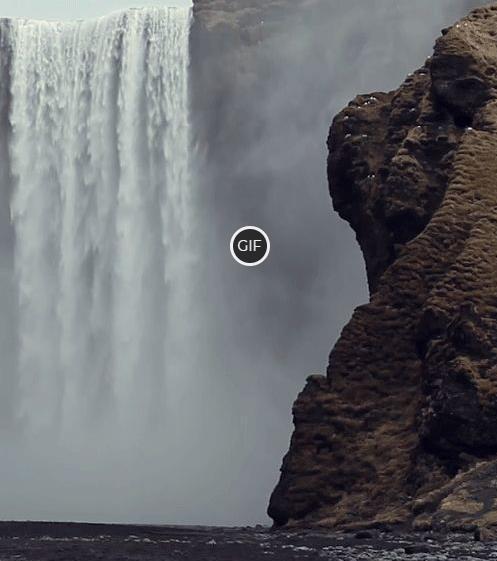 Гифка красивый водопад