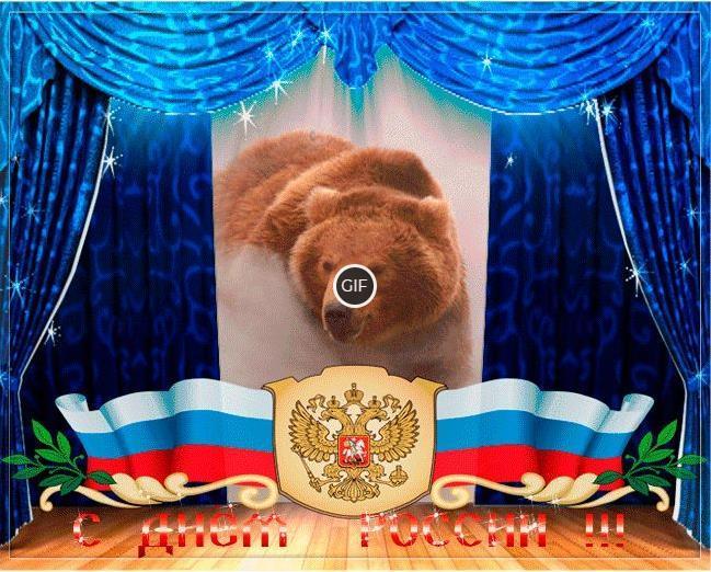 Гифки с днём России прикольные