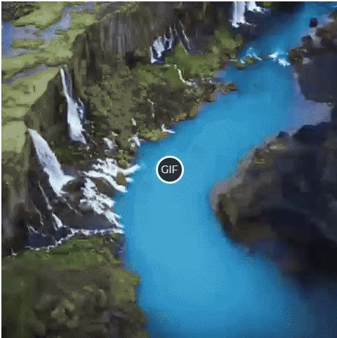Гифка потрясающей красоты природа Исландии