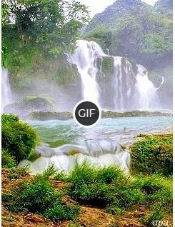 Красивая gif картинка водопада