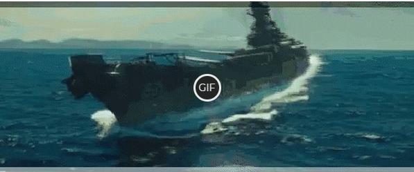 Эпическая гифка боя авианосца с инопланетным кораблём