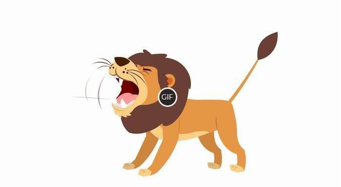 Рычащие львы на гифках