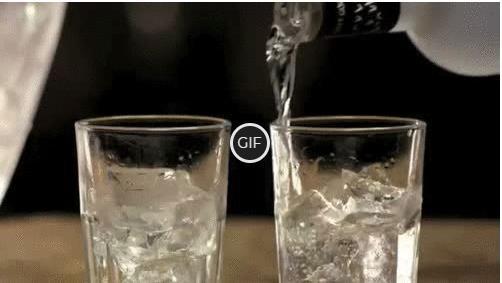 Гифка наливают водку в стопки