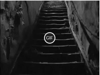 Гифка страшная лестница