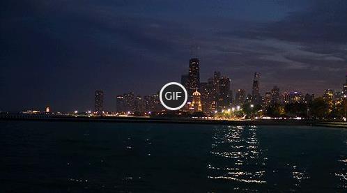 Гифка город у океана