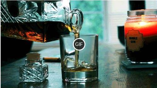 Гифка наливают виски