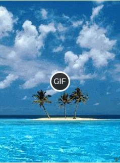 Гифка море, остров, пальмы и песочный пляж
