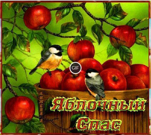 Гифки с Яблочным спасом